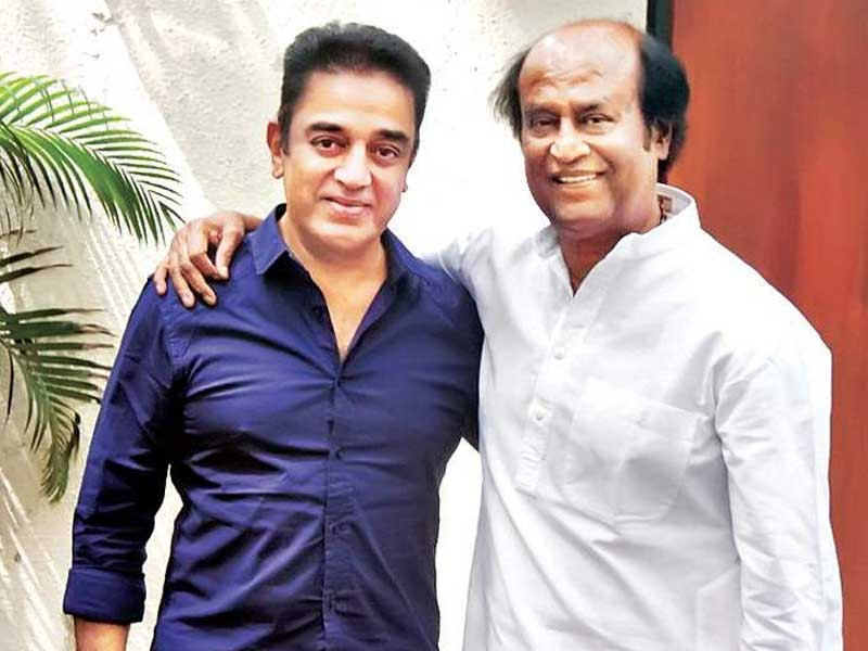 Photos of Kamal Hasan & Rajinikanth